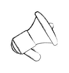 Bullhorn isolated object vector