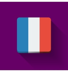Button with flag of france vector