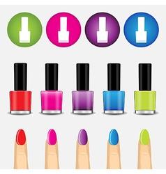 Color nail polish and icon vector image