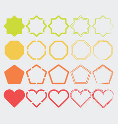 colorful shape icons in different colors set 2 vector image vector image