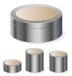 cream boxes vector image