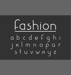 fashion font vector image vector image