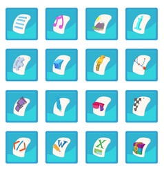 File type icon blue app vector