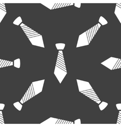 Hipster tie web icon flat design Seamless gray vector image