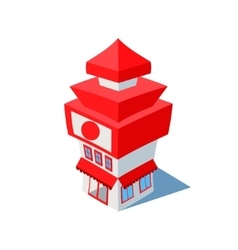 Isometric sushi restaurant cafe building vector