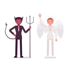 Male angel and devil vector