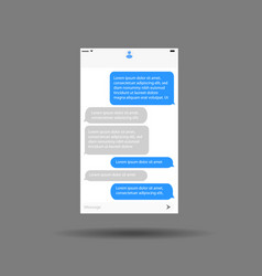 messaging interface mobile application chat vector image vector image
