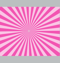 Pink modern stripe rays background pink sunburst vector