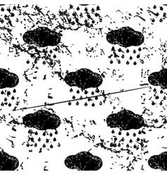 Rain pattern grunge monochrome vector