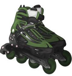 Roller-skates fitness foot footwear fun graphic vector