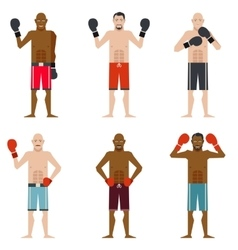 Set of Boxers vector image
