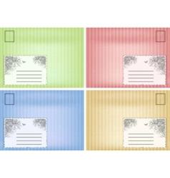 set of vintage envelope vector image