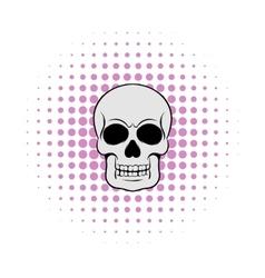 Skull icon comics style vector image