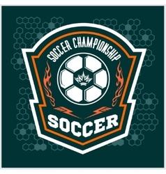Soccer Badge - emblem on dark background vector image