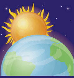 solar system design vector image vector image