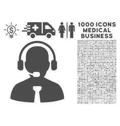 Support chat icon with 1000 medical business vector