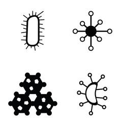 virus icon set vector image