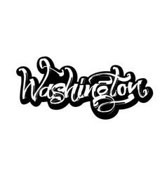 Washington sticker modern calligraphy hand vector