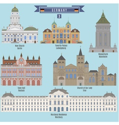 Famous places in germany vector
