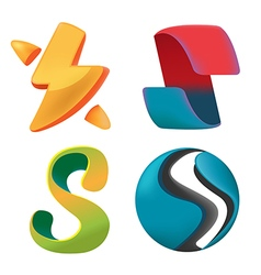 Abstract curve logo symbol design vector