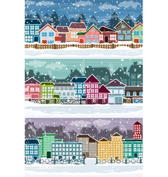 Winter city 2 vector
