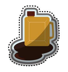Fuel gallon isolated icon vector