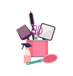 Professional hairdresser tools barber fashion vector