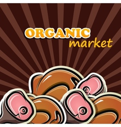 Poultry and meat organic food concept vector