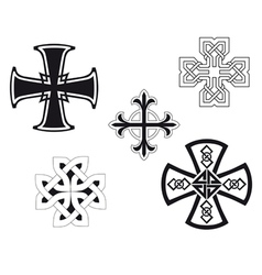Set of religious crosses vector