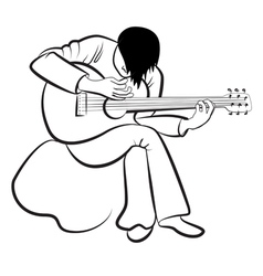 Guitarist playing the guitar vector