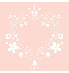 Romantic heart banner frame background with copy vector
