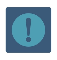 Problem flat cyan and blue colors rounded button vector