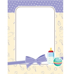 Baby frame with toys vector