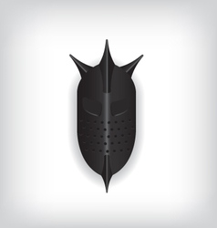 Medieval black warrior helmet vector