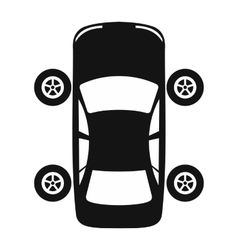 Service and repair car wheel flat icon vector
