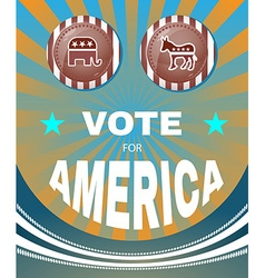 Vote for america elephant versus donkey american vector