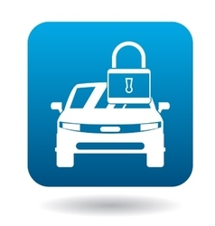 Arrested car icon simple style vector