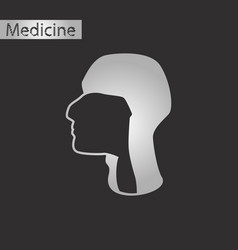 black and white style icon of pharynx vector image vector image