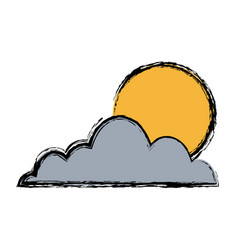 cloud sun sky weather seasonal climate icon vector image vector image