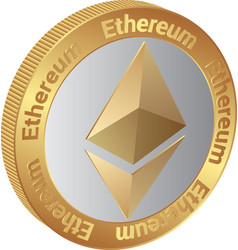 ethereum vector image vector image