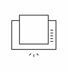 extractor hood icon vector image vector image