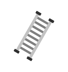Firefighter ladder icon vector