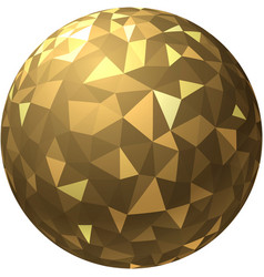 golden ball with geometric pattern vector image