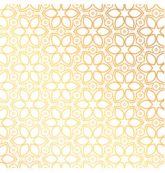 Golden flower pattern background design vector