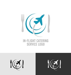 In-flight catering logo vector