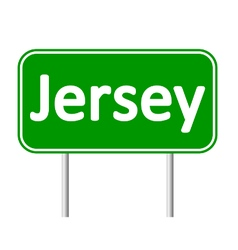 Jersey road sign vector image vector image