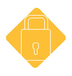Label padlock to have sacurity the special thing vector