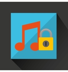 music security system technology vector image