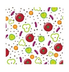 Patern with vegetables vector