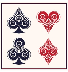 Playing Card Circle Style vector image